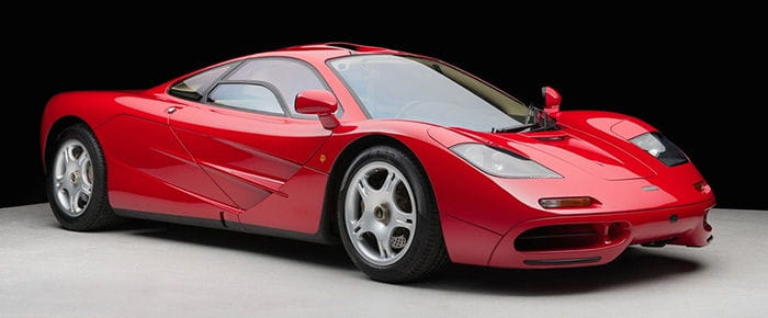 Most expensive modern sports car ever sold: € 7,500,000 for a McLaren F1