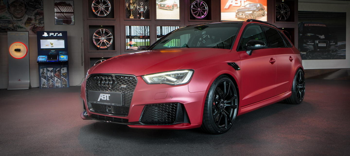 This spectacular Audi RS3 is the work of ABT ... and has 450 horsepower under the hood!