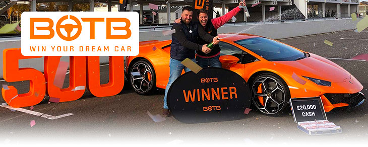 Win a supercar with BOTBjpg